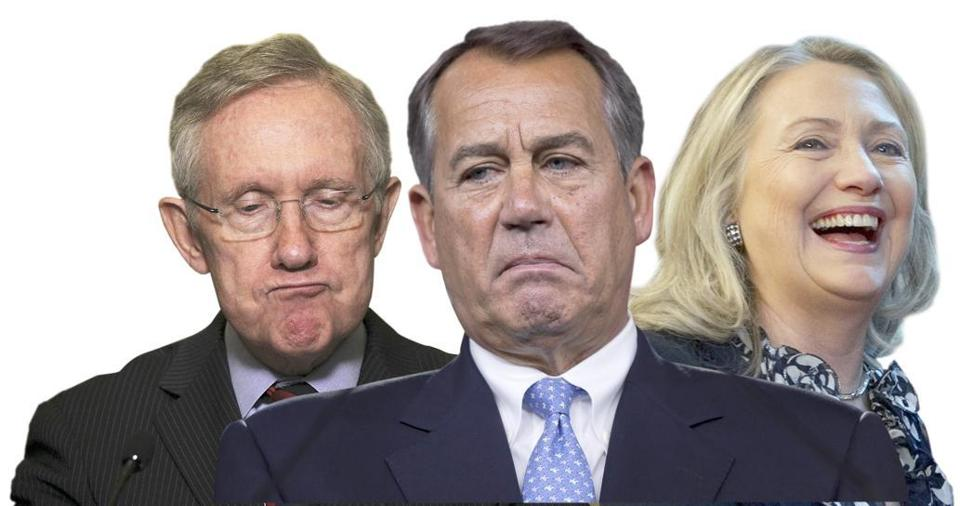 Harry Reid and John Boehner have work to do; Hillary Clinton is leaving office.